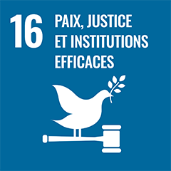 UN Sustainable Development Goal Goals: 16 - Peace, justice and strong institutions