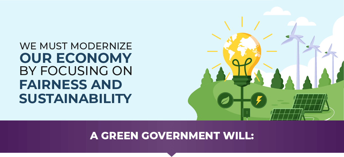 We must modernize our economy focusing on fairness and sustainability.